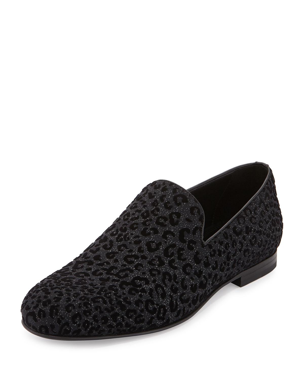 2630987a6c8 Jimmy Choo Sloane Men s Leopard-Print Loafer