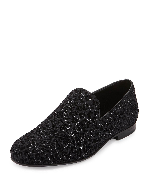 48ea112e64b Jimmy Choo Sloane Men s Leopard-Print Loafer