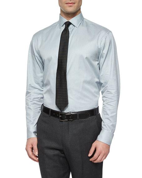 Giorgio Armani Modern Fit Mini-Bengal Striped Dress Shirt,