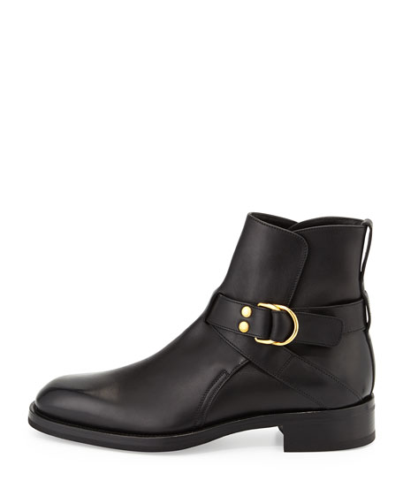 Guilford Leather Chelsea Buckle Boots, Black