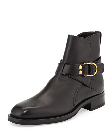 TOM FORD Guilford Leather Chelsea Buckle Boot, Black