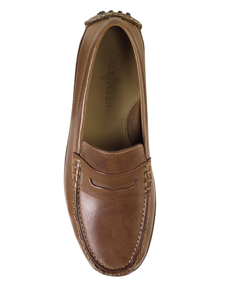 Image 4 of 4: Cole Haan Grant Canoe Penny Loafer, Brown