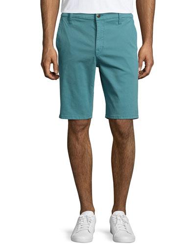 Brixton Woven Trouser Shorts, Aqua