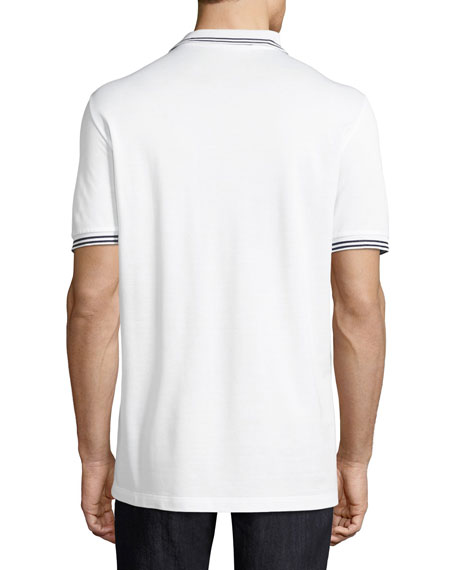 Men's Tape-Tipped Short-Sleeve Polo Shirt