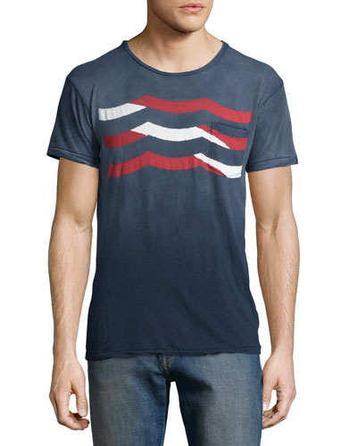 Wave Graphic Knit Tee, Multicolor