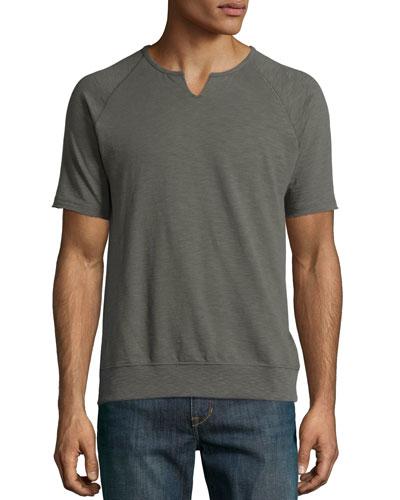 Raglan Short-Sleeve Sweatshirt, Sage