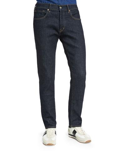 Regular-Fit Deep Indigo Stretch Jeans