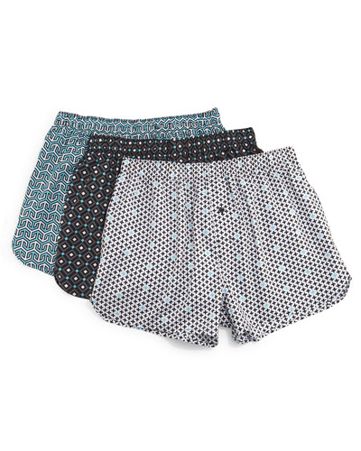 Printed 3-Piece Boxer Shorts Set