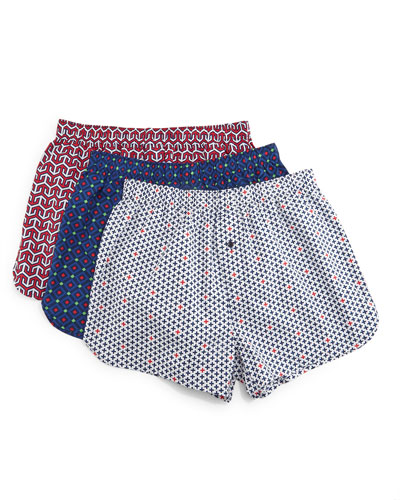 Printed 3-Piece Boxer Shorts Set, Multicolor
