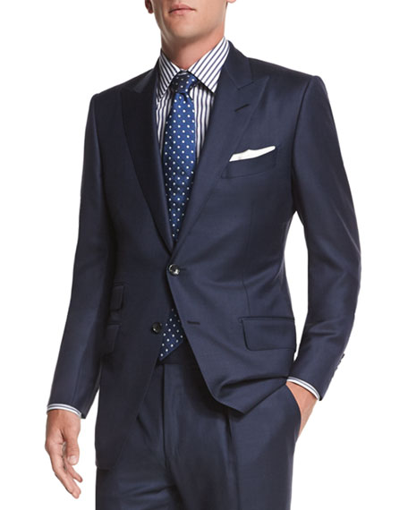 TOM FORD O'Connor Base Sharkskin Two-Piece Suit, Navy