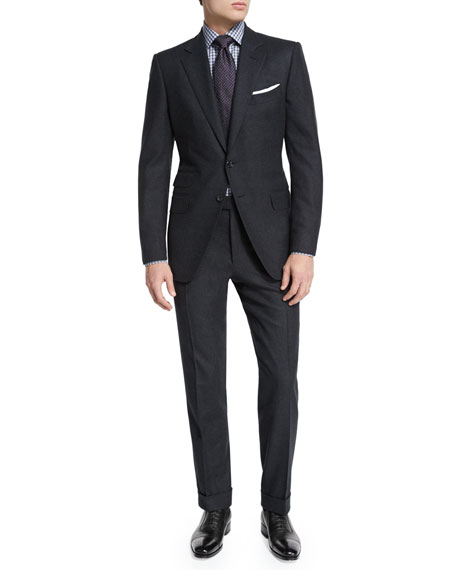 TOM FORD O'Connor Base Semi-Worsted Flannel Two-Piece Suit,