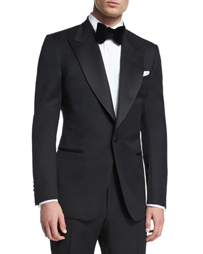 Windsor Base Peak-Lapel Tuxedo  Black