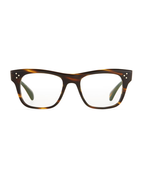 Jack Huston 52 Matte Fashion Glasses, Chocolate