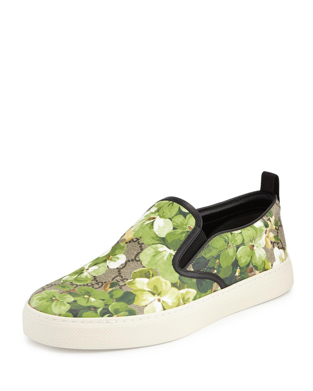 0884a5b222c Gucci Blooms Print Slip-On Sneaker