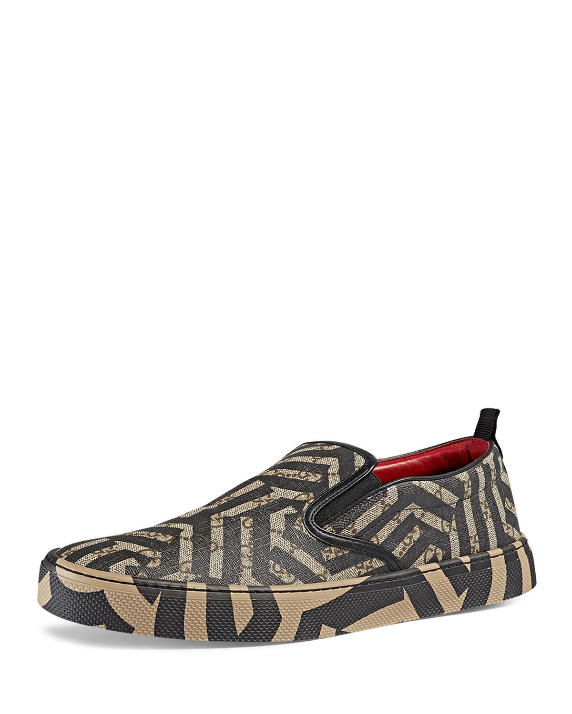 9b2de1604f0 Gucci Dublin GG Caleido Canvas Slip-On Sneaker