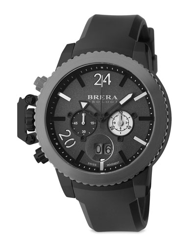 Militare II Chronograph Watch, Black/Gray