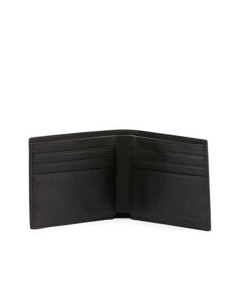 Check Hipfold Wallet, Navy/Black