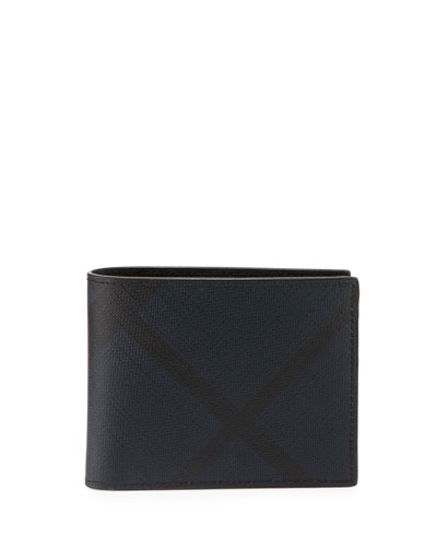 Check Hipfold Wallet, Navy/Black