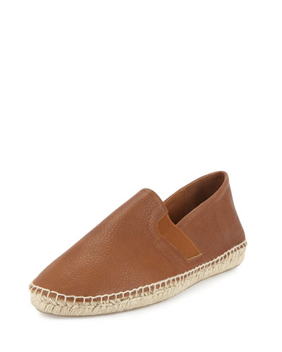 Luggage Leather Espadrille, Brown