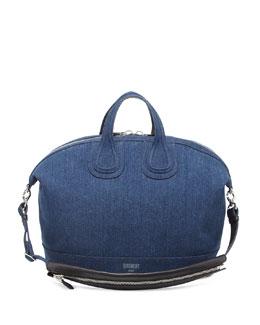 Nightingale Denim Satchel Bag, Denim