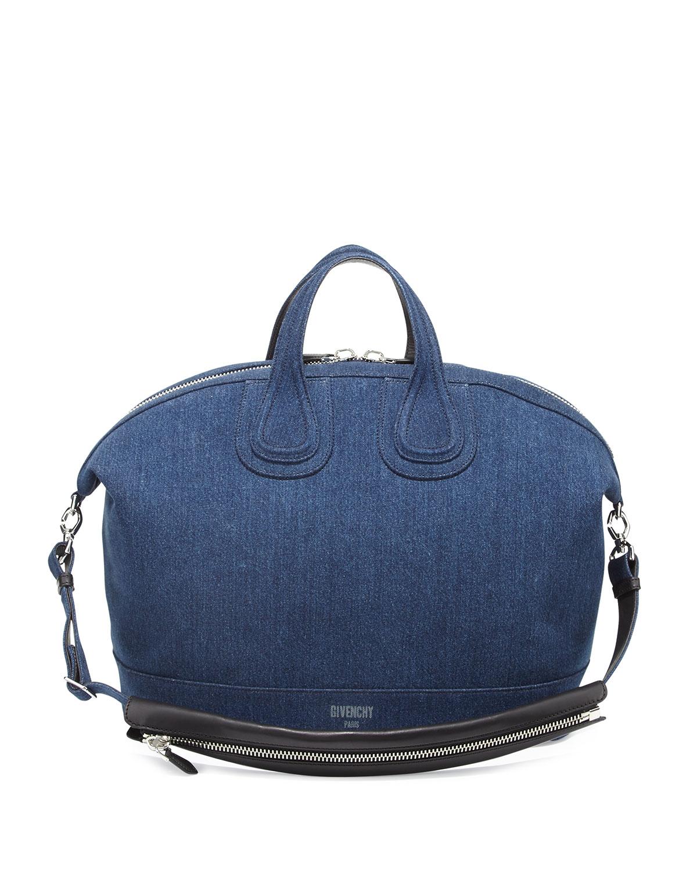 8f00d369eedc Givenchy Nightingale Denim Satchel Bag