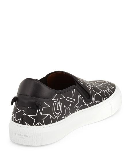 Street Skate III Logo-Print Slip-On Sneaker, Black/White