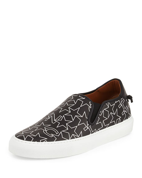 Givenchy Street Skate III Logo-Print Slip-On Sneaker, Black/White