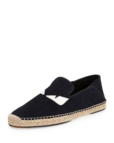 Monster Eyes Slip-On Espadrille, Black
