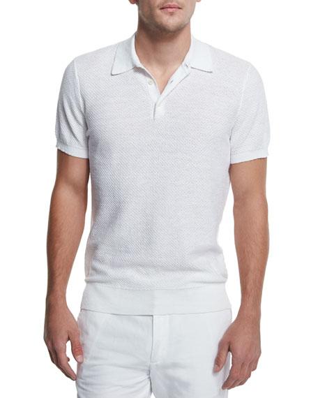 Michael Kors Batik Diamond-Print Blazer, Textured Cotton/Linen