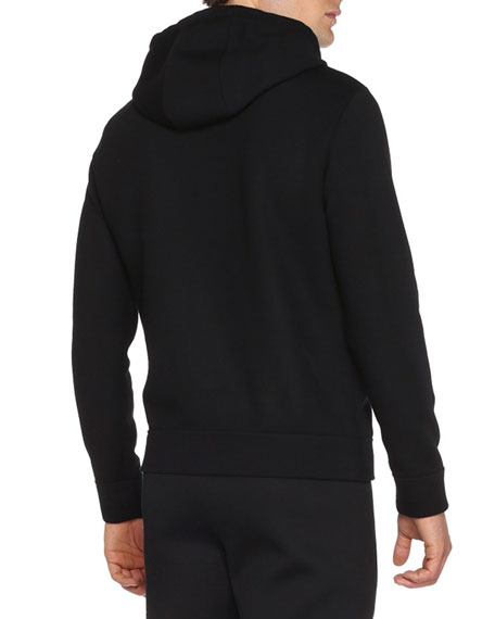 Fendi Monster Eyes Zip-Up Hoodie, Black