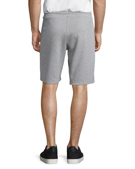 Zip-Pocket Knit Sweat Shorts, Gray