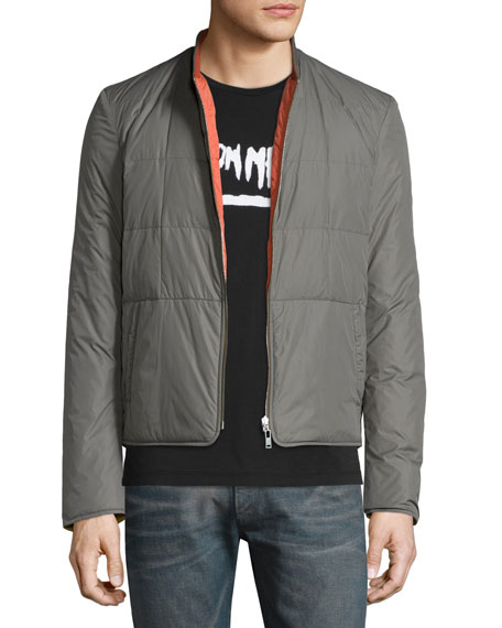 Maison Margiela Reversible Quilted Down Jacket, Olive