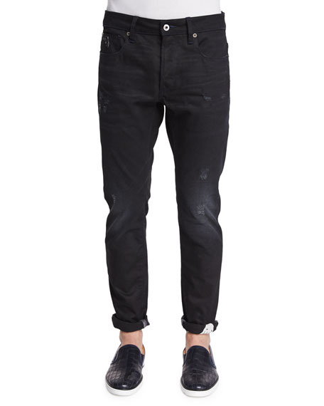 G-Star Raw For The Oceans Distressed Slim Jeans,