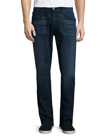 Straight-Leg FoolProof Denim Jeans, Alpha