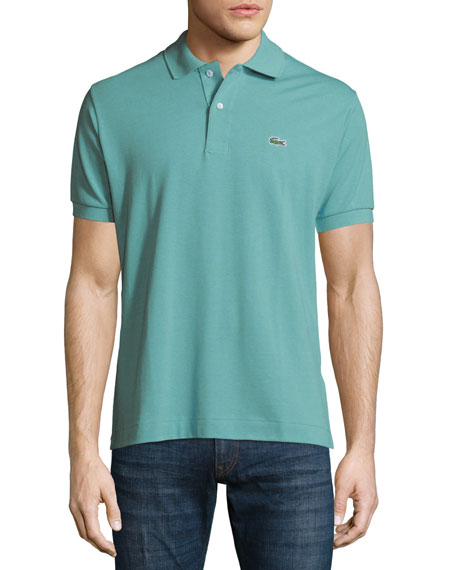 Lacoste classic pique polo shirt papeete green neiman for What stores sell polo shirts