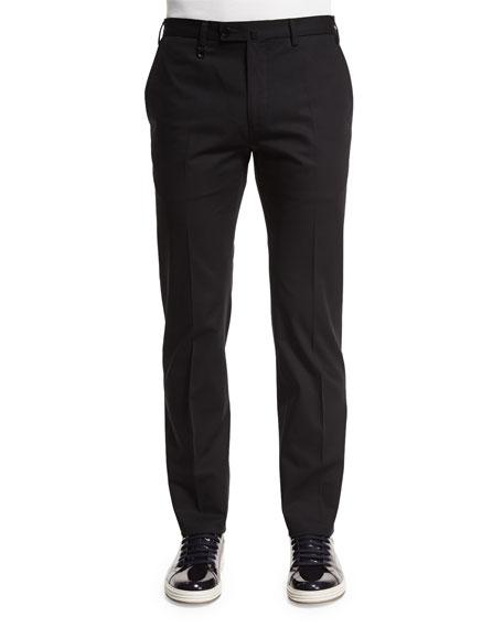 Salvatore Ferragamo Five-Pocket Cotton Pants, Black