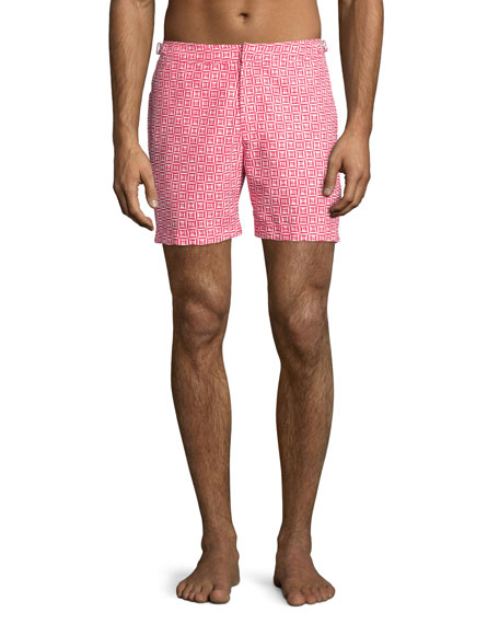Orlebar BrownRescue Bulldog Tribal-Print Swim Trunks, Red