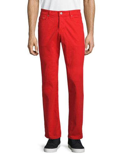 Five-Pocket Sud Jeans, Red