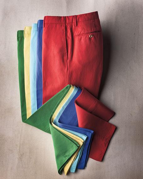 Chinolino Linen-Blend Trousers, Aqua