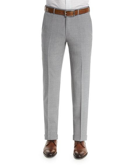 Ermenegildo Zegna High Performance Trofeo?? Wool Trousers, Light