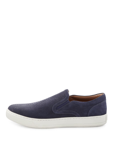Ace Embossed Leather Slip-On Sneaker