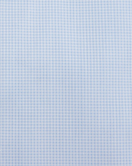 Textured Solid Dress Shirt, Light Blue