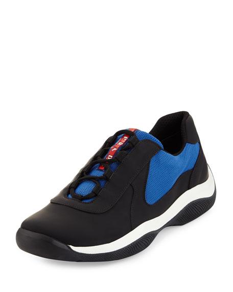 Prada Punta Ala Mesh Sneaker, Blue
