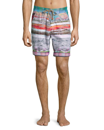 Multi-Print Swim Trunks, Multi Colors
