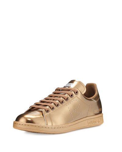 Stan Smith Copper Metallic Perforated Leather Sneaker