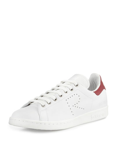Stan Smith Perforated Leather Sneaker, White