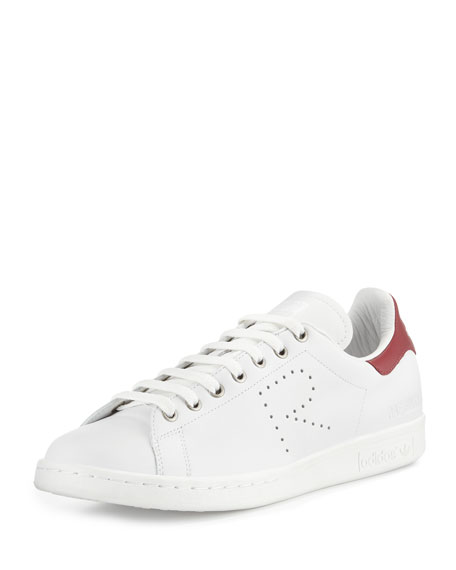 Adidas by Raf Simons Stan Smith Perforated Leather Sneaker, White