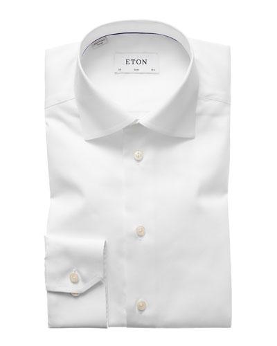 Slim-Fit Twill Dress Shirt