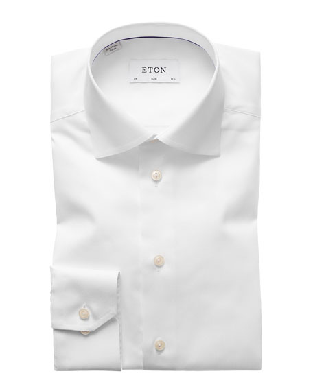 ETON Of Sweden Signature Twill Slim Fit Dress Shirt in White