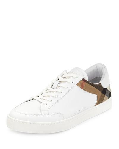 Rettford Men's Leather Low-Top Sneaker, White